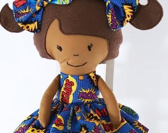 Sally- Handmade Fabric Doll