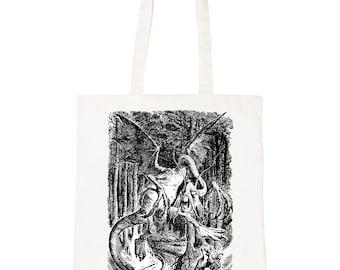 Batch1 Alice In Wonderland Through Looking Glass Jabberwocky Tote Bag Shopper