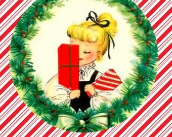 1950's  Christmas shopping card.