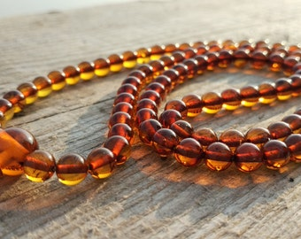 108 baltic amber mala for meditation for meditation (size Ø6 colour 4)
