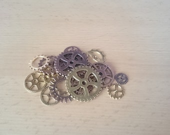1oz/30grams Antique Brass/Gold colored Steampunk Gears