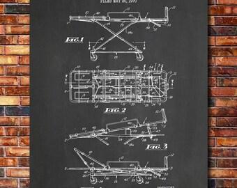 Stretcher Patent Print Art 1972