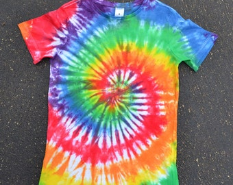 Children's Tie Dye Rainbow T-shirt, 100% Cotton