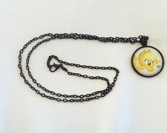 Applejack necklace, MLP necklace, My little pony, my little pony necklace, apple jack pendant, friendship is magic