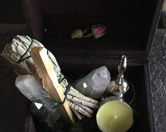 Beautiful Altar/ Spell Box (spirit and Angels)