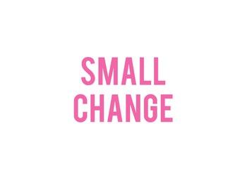 Add On Small Change Item