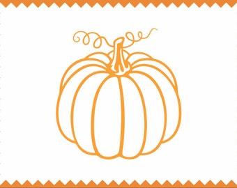 Pumpkin Clipart  - SVG -ai -dxf -cdr -eps -jpeg -png -pdf -wmf -docx -Iron on Transfer  Cameo - Cricut - Vinyl Cutting - Laser Engraving