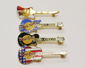 Collection of 4 Hard Rock Cafe Pins