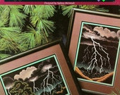 2 Designs! THUNDERSTORMS by NIGHT counted cross stitch pattern book, Sydney McIntosh, Great Big Graphs VCL-20077 cross stitched landscape