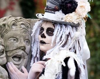 Woman Halloween Costume - Sugar Skull Bride, size small