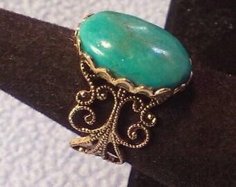 Beautiful Filigree Turqoise Ring