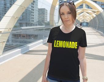 Women's Yellow Lemonade Shirt Printed Formation T-shirt #1389