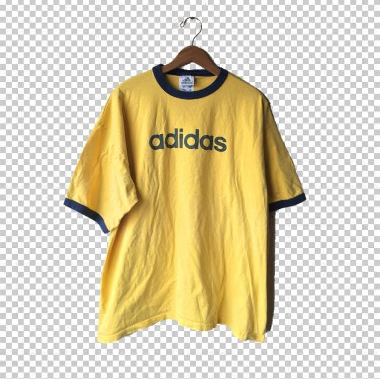 Xl adidas ringer t shirt yellow and navy colorful ringer for Adidas ringer t shirt