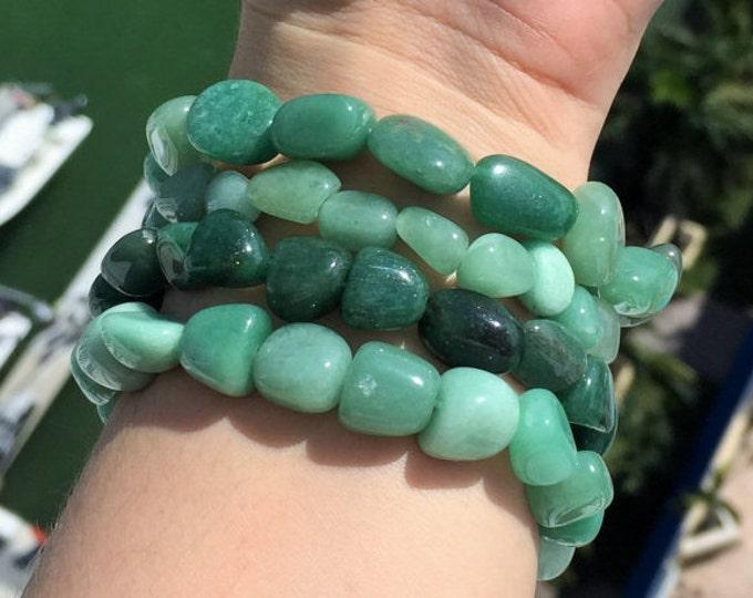 Gifts for Employees, Green Aventurine Bracelet/Healing Stone Bracelets Charged w/ Reiki