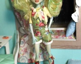 OOAK Monster High Repaint Doll Custom OOAK Lagoona Blue