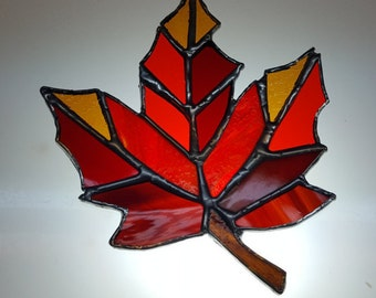 Stained Glass Autumn Leaf Nightlight