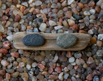 Men's Earrings - Black and Green Stones - Hypoallergenic Studs - Gift for Boyfriend - Baltic Sea