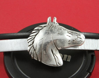 3/4 MADE in EUROPE zamak large slider, zamak horse slider, flat cord slider, bracelet large slider, 10mm flat cord slider (94078) Qty1