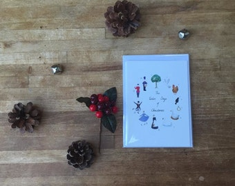 Pack of 5 - 12 Days of Christmas Cards