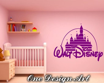 Disney Castle Wall Decals, Walt Disney Home Decor Mural Arts Sticker For  Interior Decor Kids