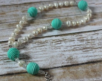 Turquoise and Pearl Protestant Prayer Beads/Anglican Prayer Beads