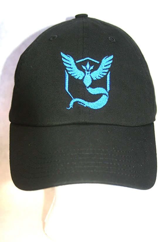 Pokemon Go Team Mystic Blue (Polo Style Ball Cap in Various Colors)