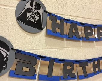 star wars birthday banner star wars theme birthday party decorations star wars birthday decoration - Star Wars Decorations