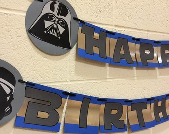 Star Wars Birthday Banner, Star Wars Theme Birthday Party Decorations, Star Wars Birthday Decoration