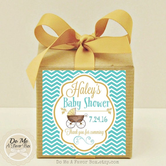 Baby Gift Gold : Elegant gold robins egg blue baby shower favors