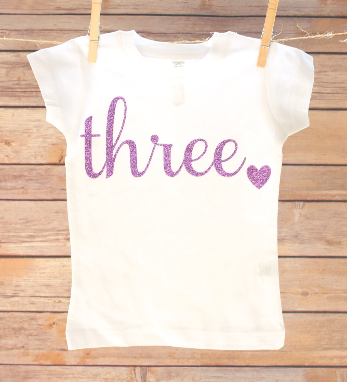 3rd Birthday Outfit Third Birthday Shirt THREE Birthday