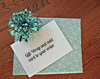 Gift wrap and card add on