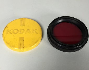 Vintage Kodak Red Film Camera Filter in Original Yellow Case