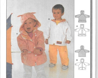 Burda 9942 -  OOP - Baby Jacket/Windbreaker pattern - sizes 3 mos - 18 mos - New/uncut