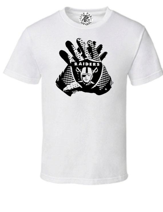 Oakland Raiders Hands Custom T By Atbsinepariapparel On Etsy