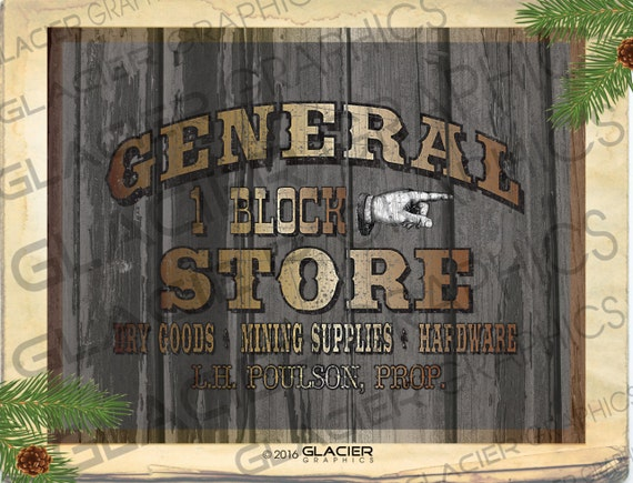 Vintage Country Farmhouse Printable General Store Country