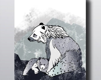 "Poster ""Nordic Bears"""