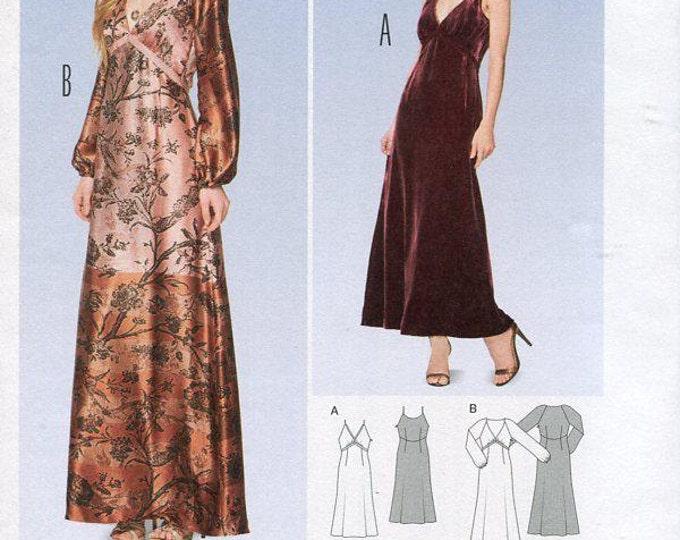 FREE US SHIP Burda 6857 Empire Dress Formal Evening Length  Size 6-16 Bust 30 31 32 34 36 38 New Uncut Sewing Pattern