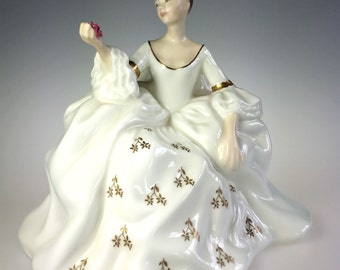 Royal Doulton My Love Porcelain Figurine HN 2339 Woman w Rose COPR 1965 Mint