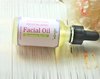 All Natural Moisturizing,Revitalizing  Anti-Aging Face Oil/Cleansing Oil w/Macadamia Nut Oil