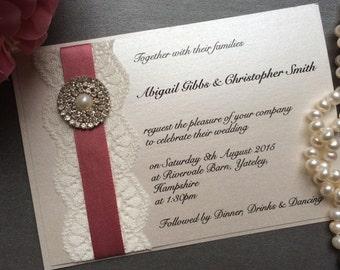 MIA Handmade Flat Wedding Invitation
