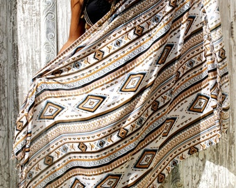 SALE!! Pareos/Beach Sarongs/Scarves/Shawl fringes/Beach cover up/Canga sarong/wrap/Swimsuit coverup * TRIBAL SARONG