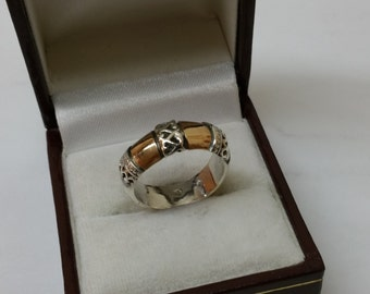 Nostalgic ring 925 Silver part gilt SR605