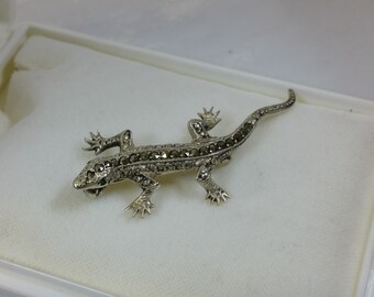 Brooch 835 lizard salamander Art Deco SB273