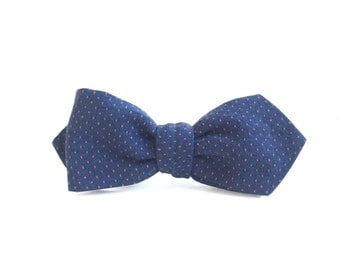 Nobu Embroidered Japanese Woven Cotton Bow Tie, Self-Tie, Men's Bow Tie