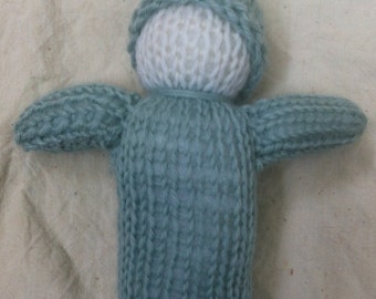 """Waldorf Baby Doll, 6"""" Knitted Wool"""