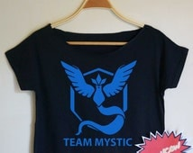 Pokemon Go Pokemon Shirt Pokemon Tshirt Team Mystic shirt Team Mystic Tshirt Team Mystic Crop Top Crop Tee Women Tops & Tees Team Mystic CT