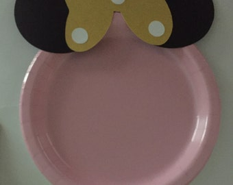 Special Custom Minnie Mouse Plates