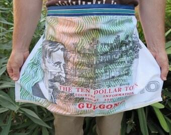 Apron, Half apron, kitchen apron, BBQ apron, Australian apron, Australian souvenir note apron, Handmade apron,
