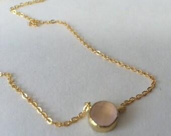 Dainty Necklace - Lil Pink Gem