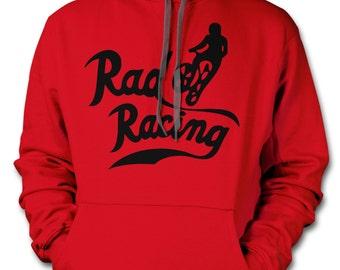 RAD RACING Hoodie - 1989 cru jones bmx cult movie Hooded Sweat Shirt NWOT Ringspun 80s vintage